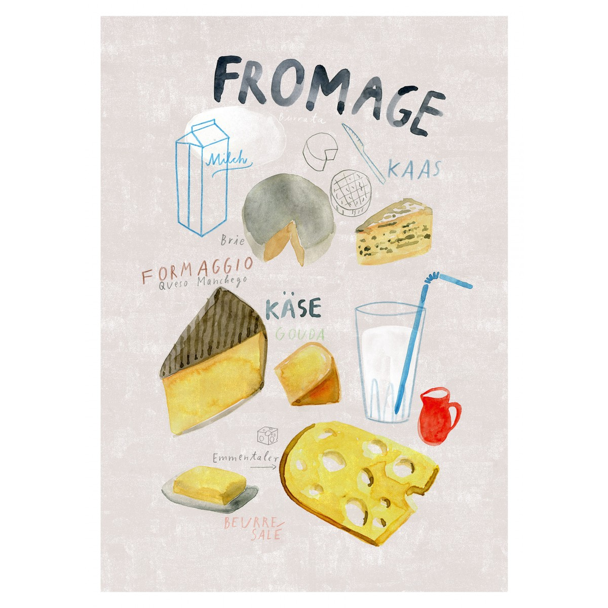 Human Empire Fromage Poster (A3)