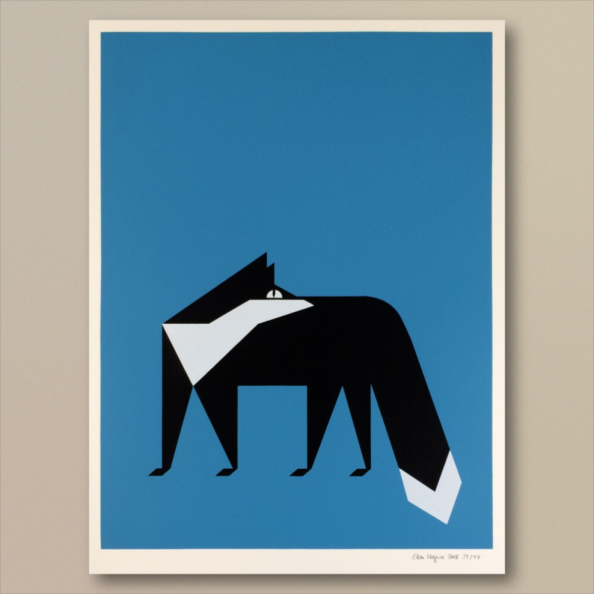 Print now - Riot later ● Abstract Fox Siebdruck