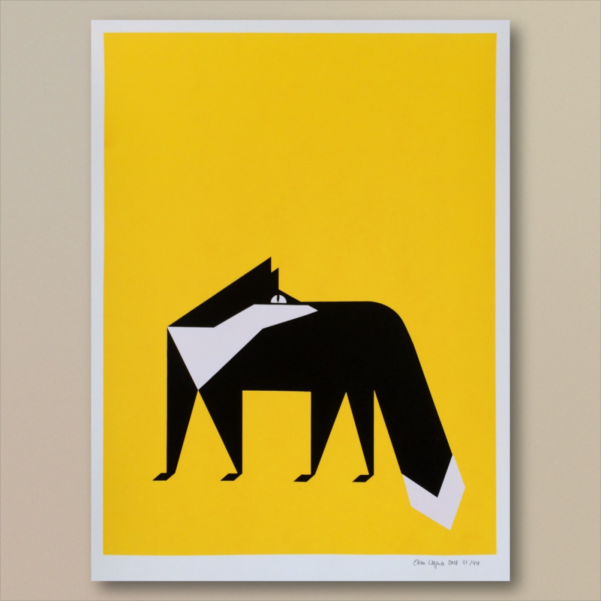 Print now - Riot later Abstract Fox