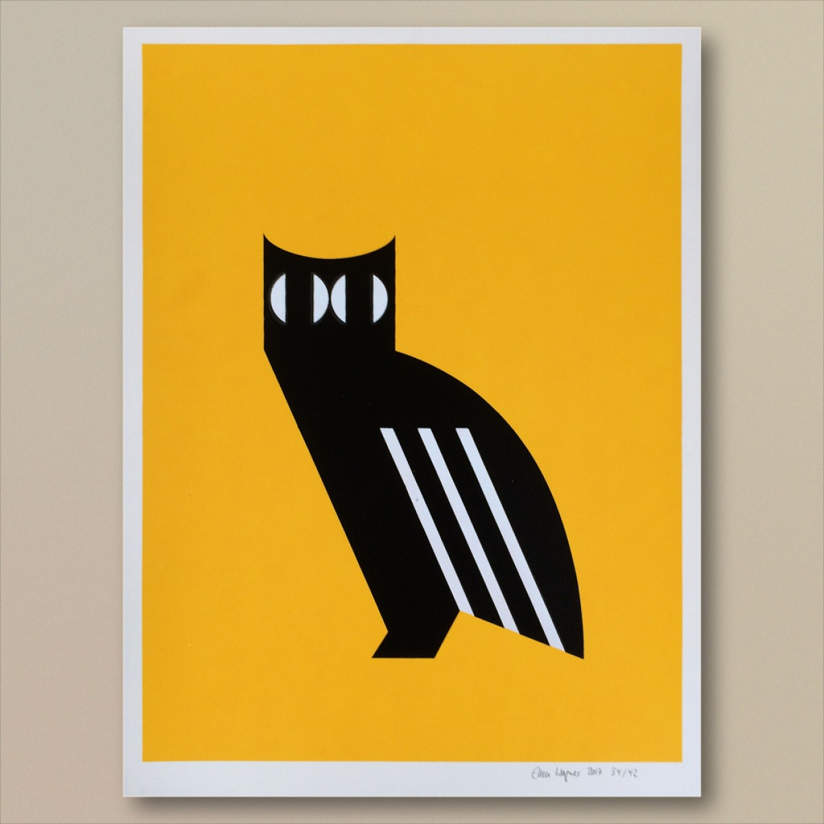 Print now - Riot later Abstract Owl