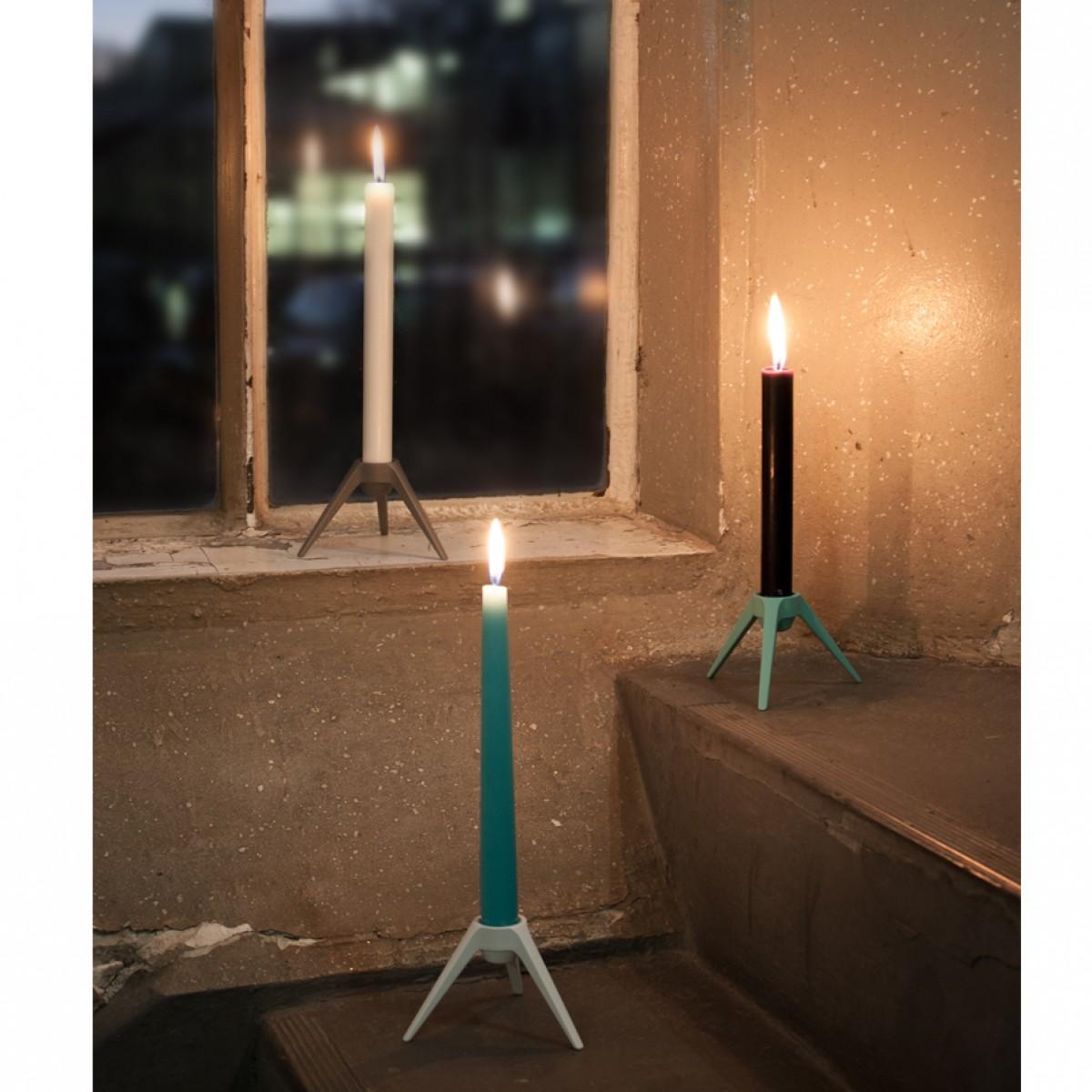 Satellite Kerzenständer aus Metall - türkis