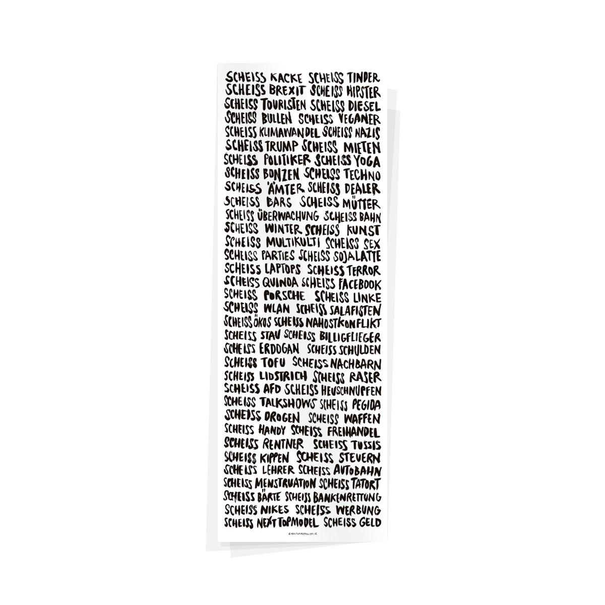Wolfgang Philippi SCHEISS PLAKAT 21x60 cm