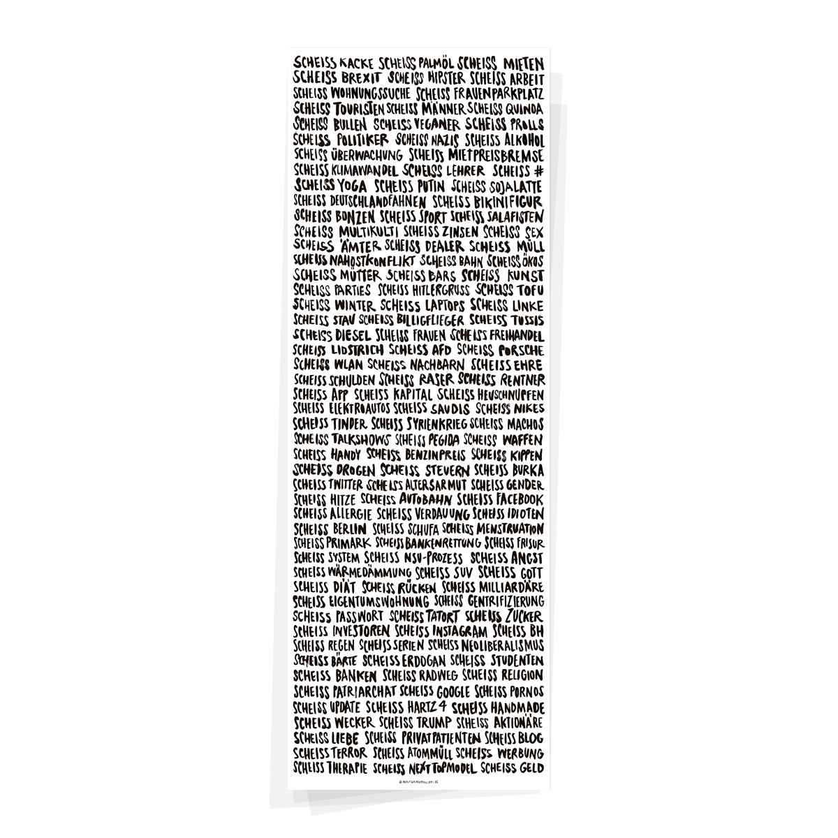 Wolfgang Philippi RIESEN SCHEISS PLAKAT 30x84 cm