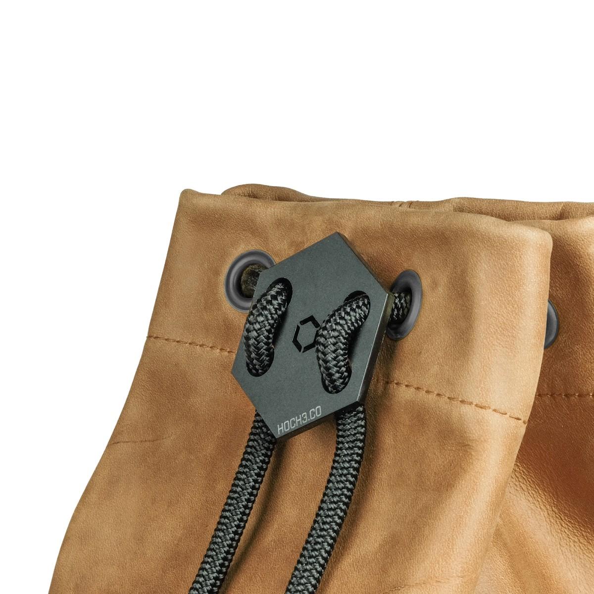 HOCH3 IDA Rucksack | pflanzlich gegerbtes braunes Leder