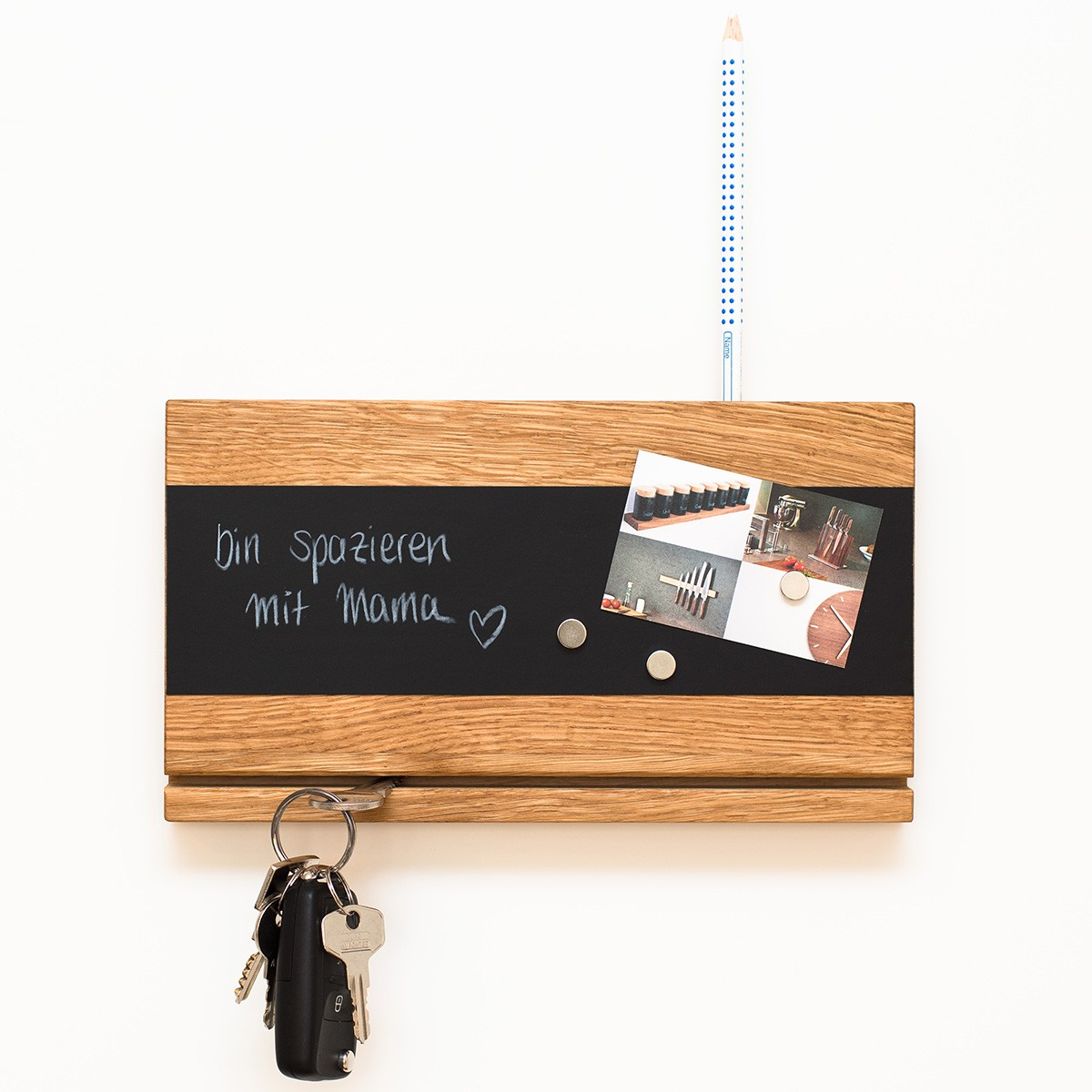 Schlüsselbrett Eiche klotzaufklotz schlüsselbrett holz (eiche) | selekkt