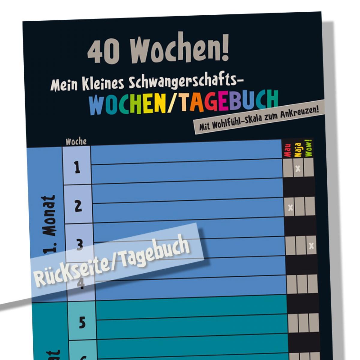 Schwangerschaftskalender mit Mini-Tagebuch