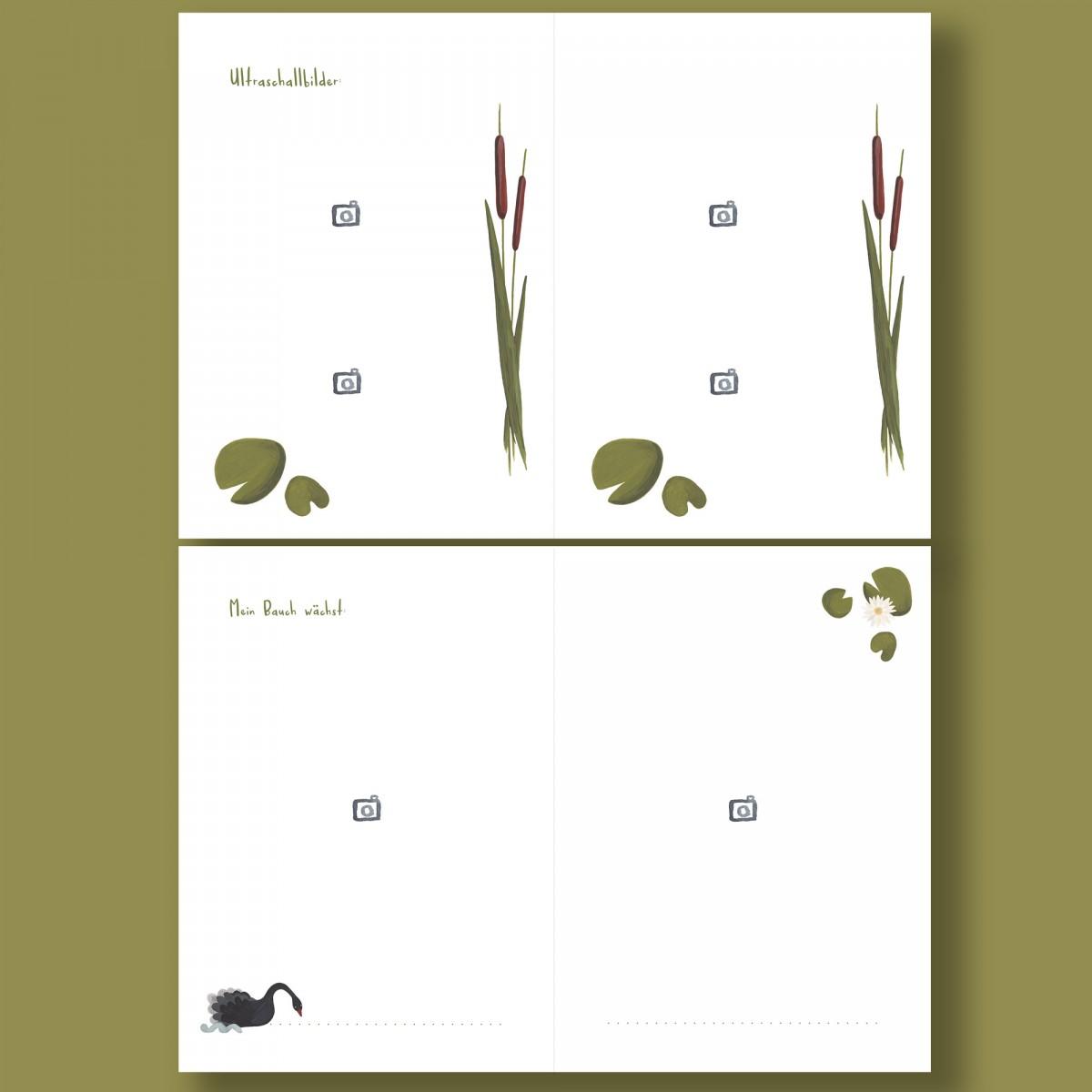 Schwangerschaftstagebuch - 9 Monate - Zwillinge - Schwan - Elliet