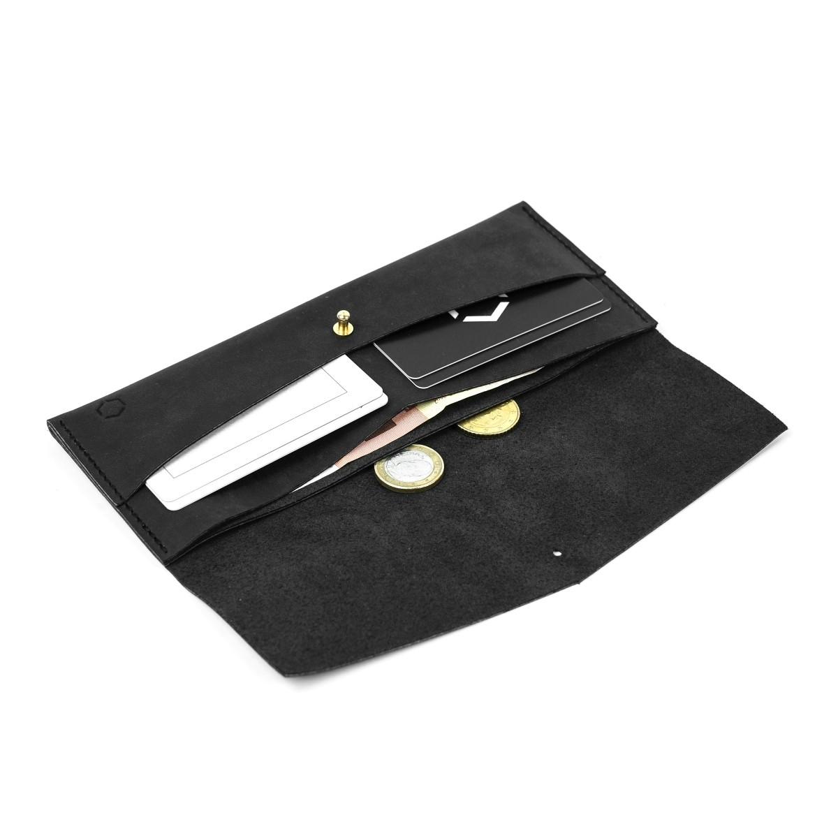 HOCH3 ELISE Portemonnaie | schwarzes Leder