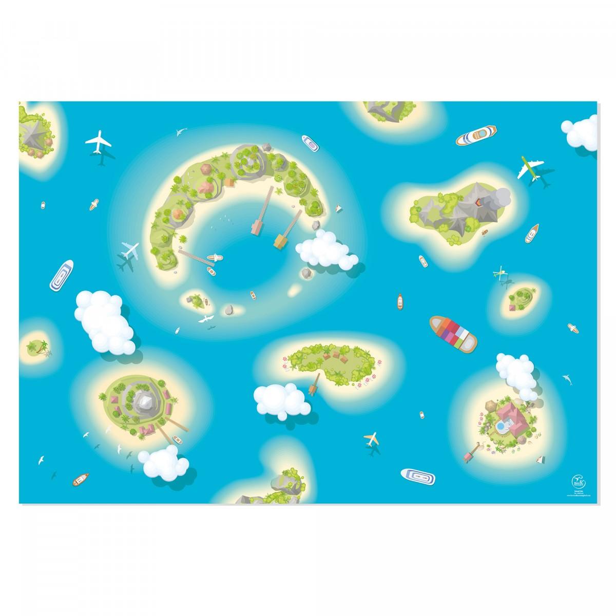 """Bow & Hummingbird Geschenkpapier """"Island Life"""""""