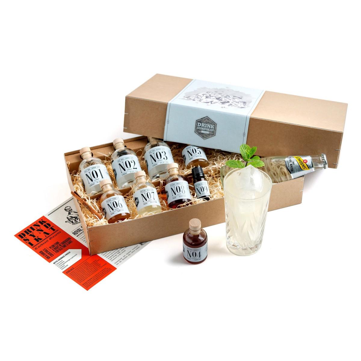 Royal Gin Expedition - Gin Cocktail-Kit mit Zutaten und Rezepten