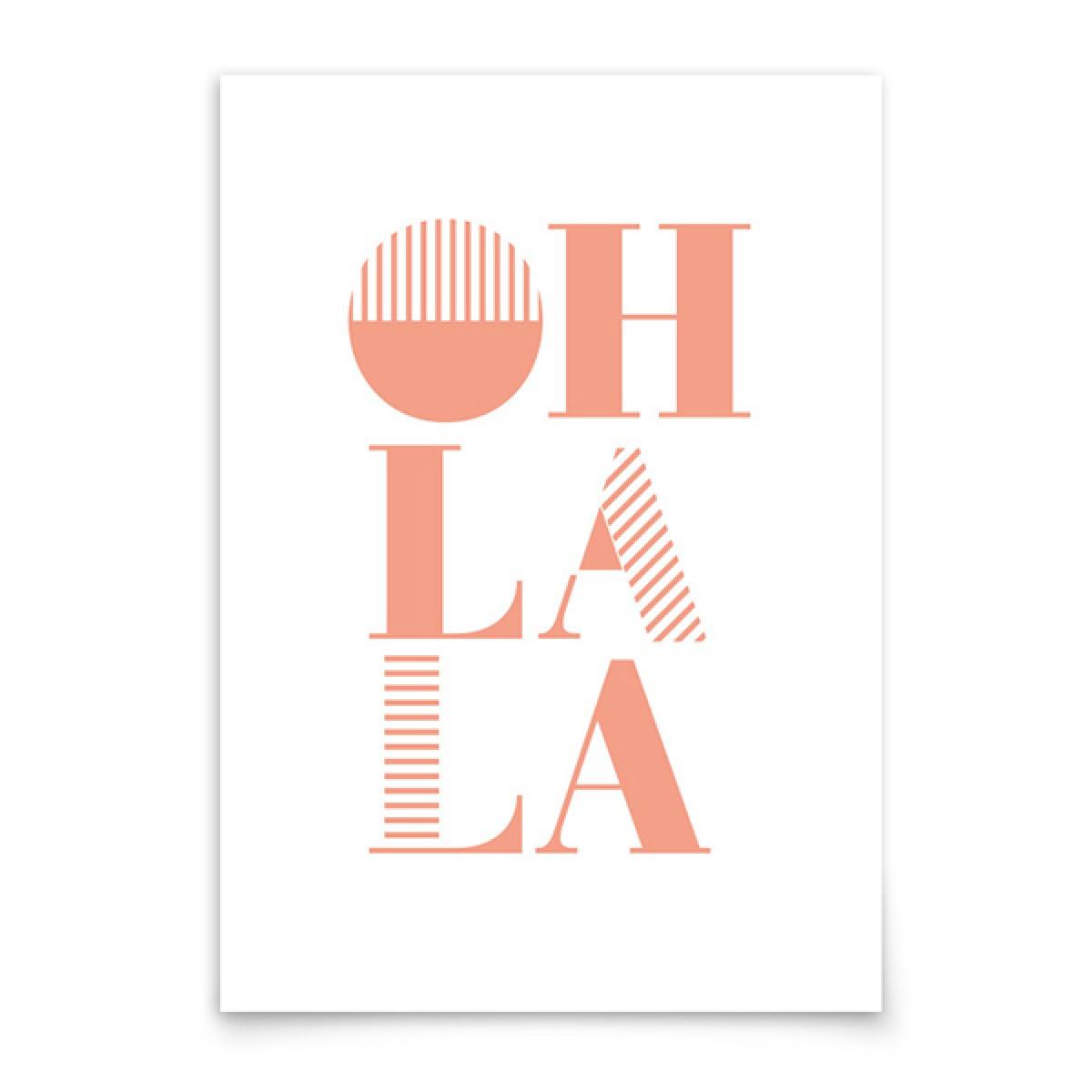 aprilplace // Oh la la // Kunstdruck Din A4