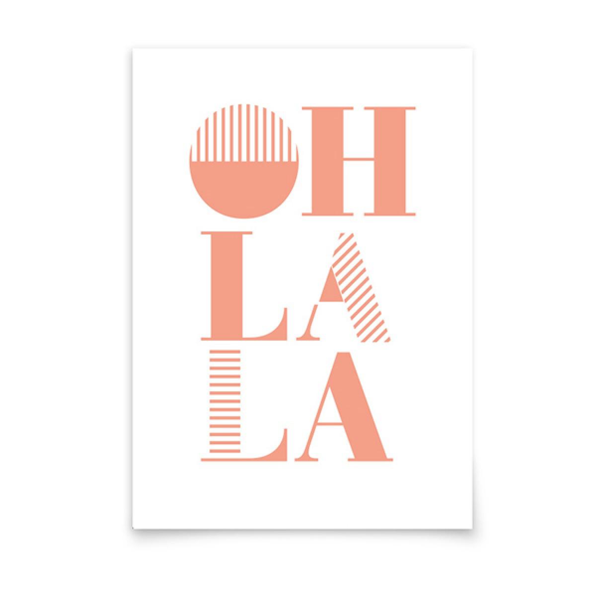 aprilplace // Oh la la // Postkarte Din A6