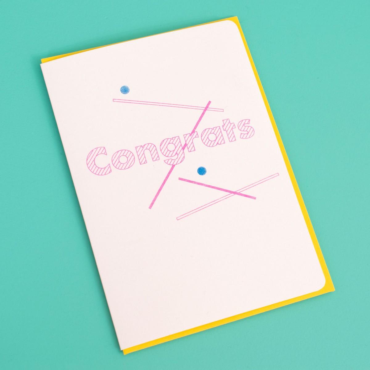 polypodium / congrats - Grußkarte - Risoduck