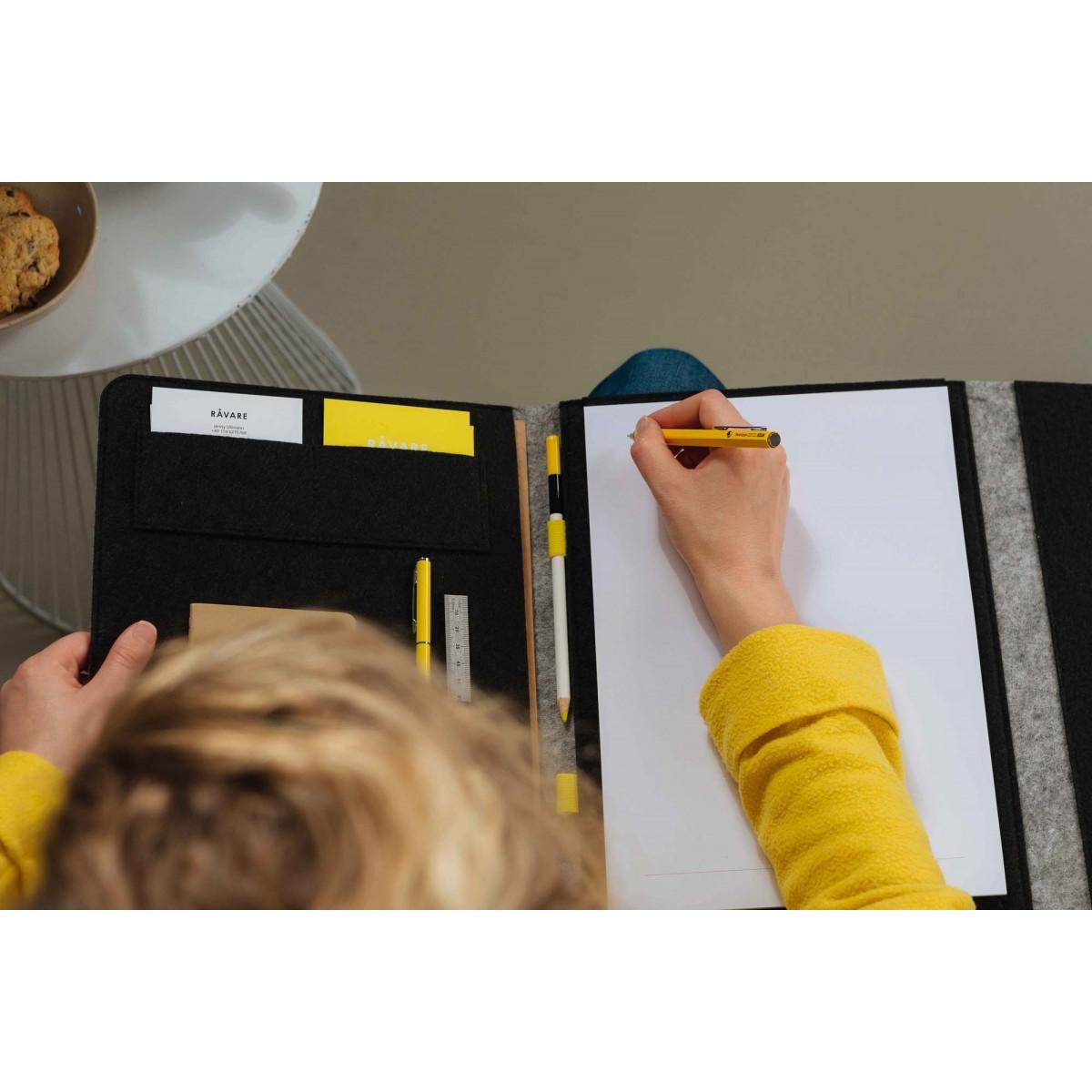 """RÅVARE Stilvolle Dokumentenmappe A4 aus Filz, für Tablets ≤13″, für MacBook 12"""""""