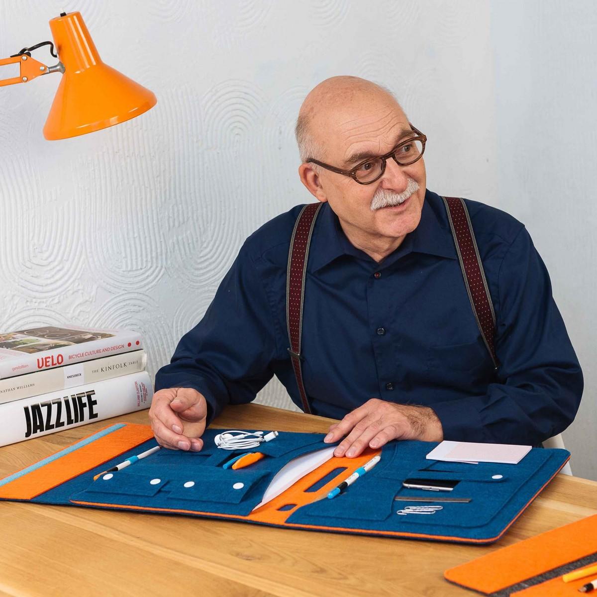 """RÅVARE Stilvoller Filz-Organizer für iPad 12.9"""", puristische Businessmappe, minimalistischer Reiseorganizer"""