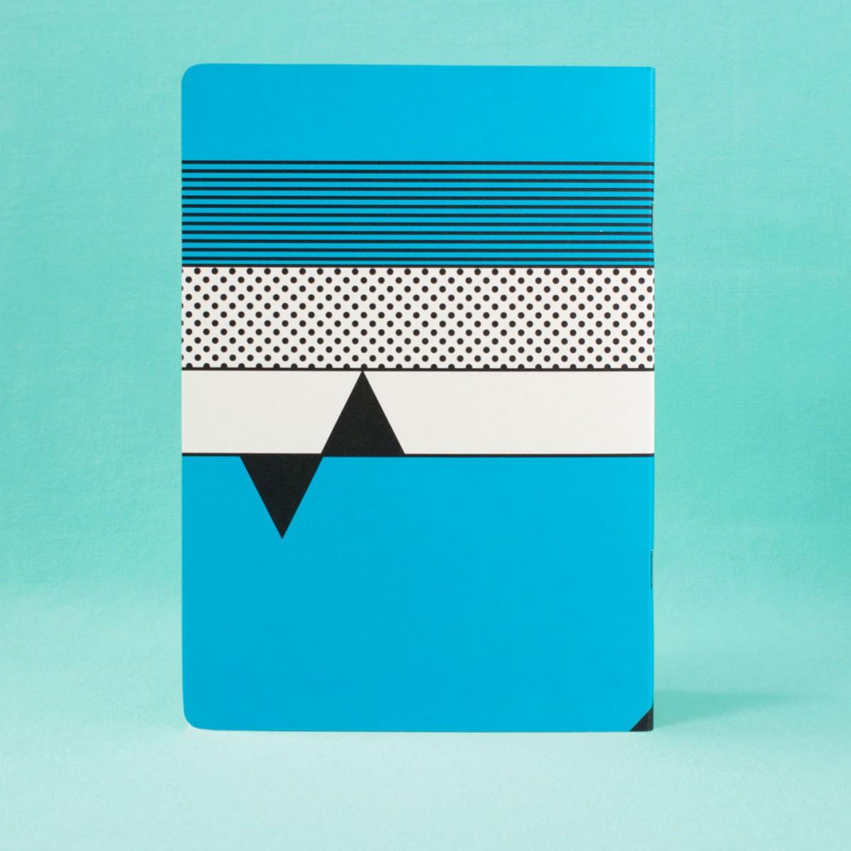 polypodium / Notizheft - A5 - I ♥ Memphis / blue