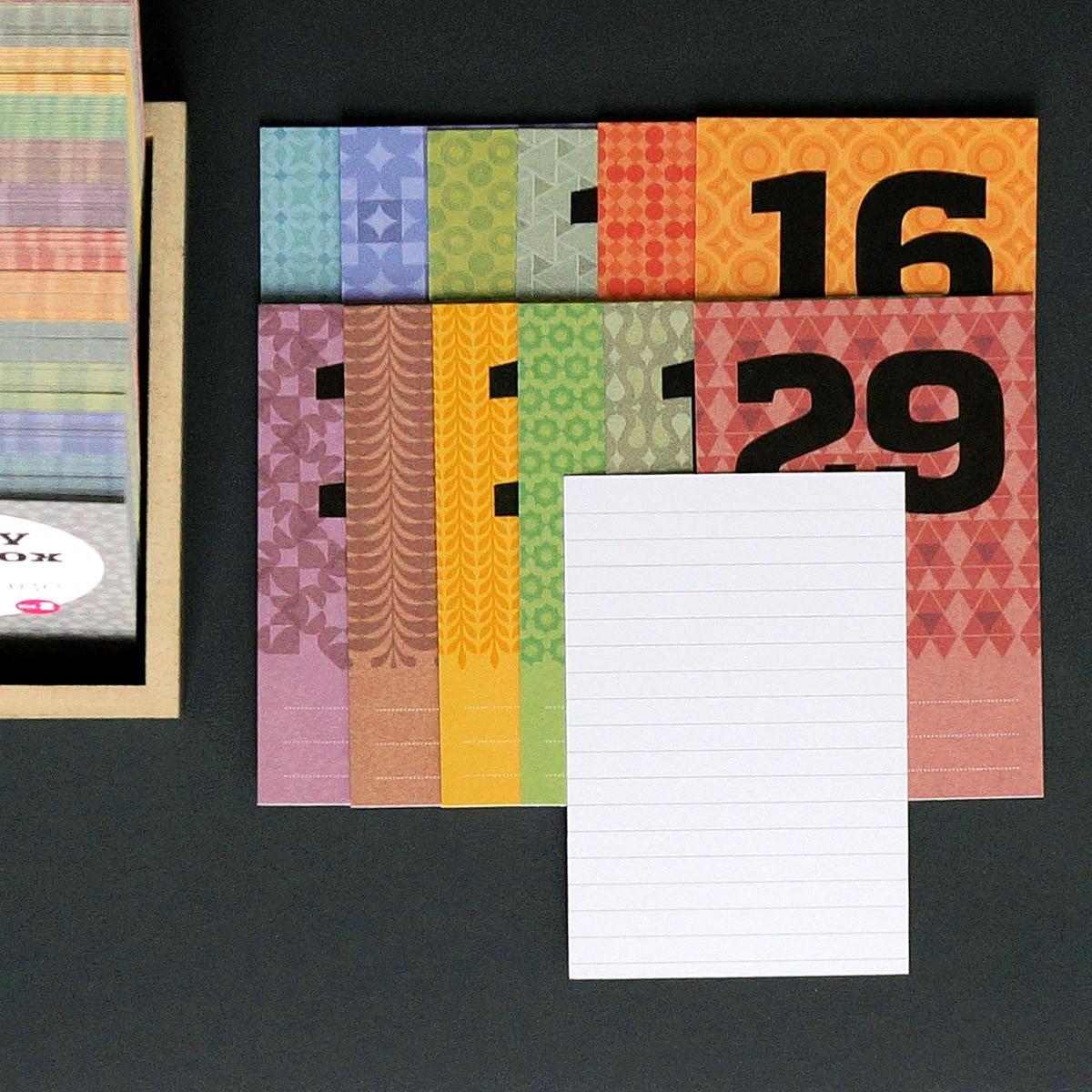 Happydaysbox, petrolblau, sprachneutraler Erinnerungskalender, schönetagebox Vol. 2