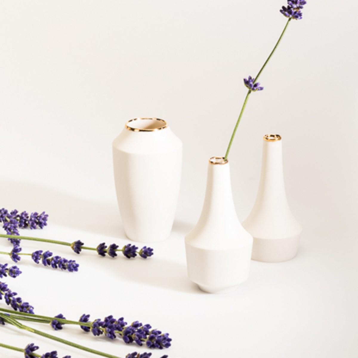 Mini Vasen Set mit Goldrand – studio.drei