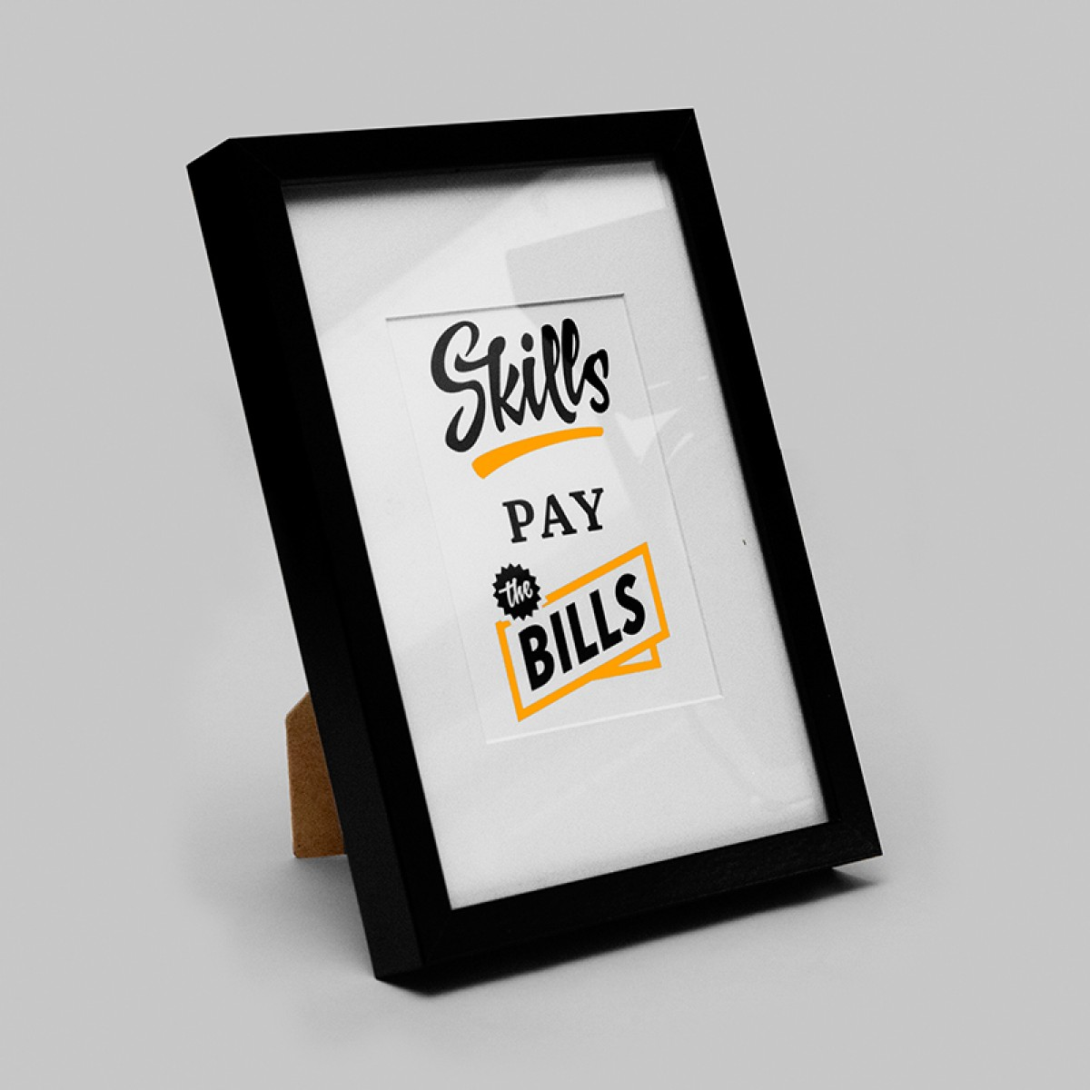 Skilly pay the Bills - Art Print