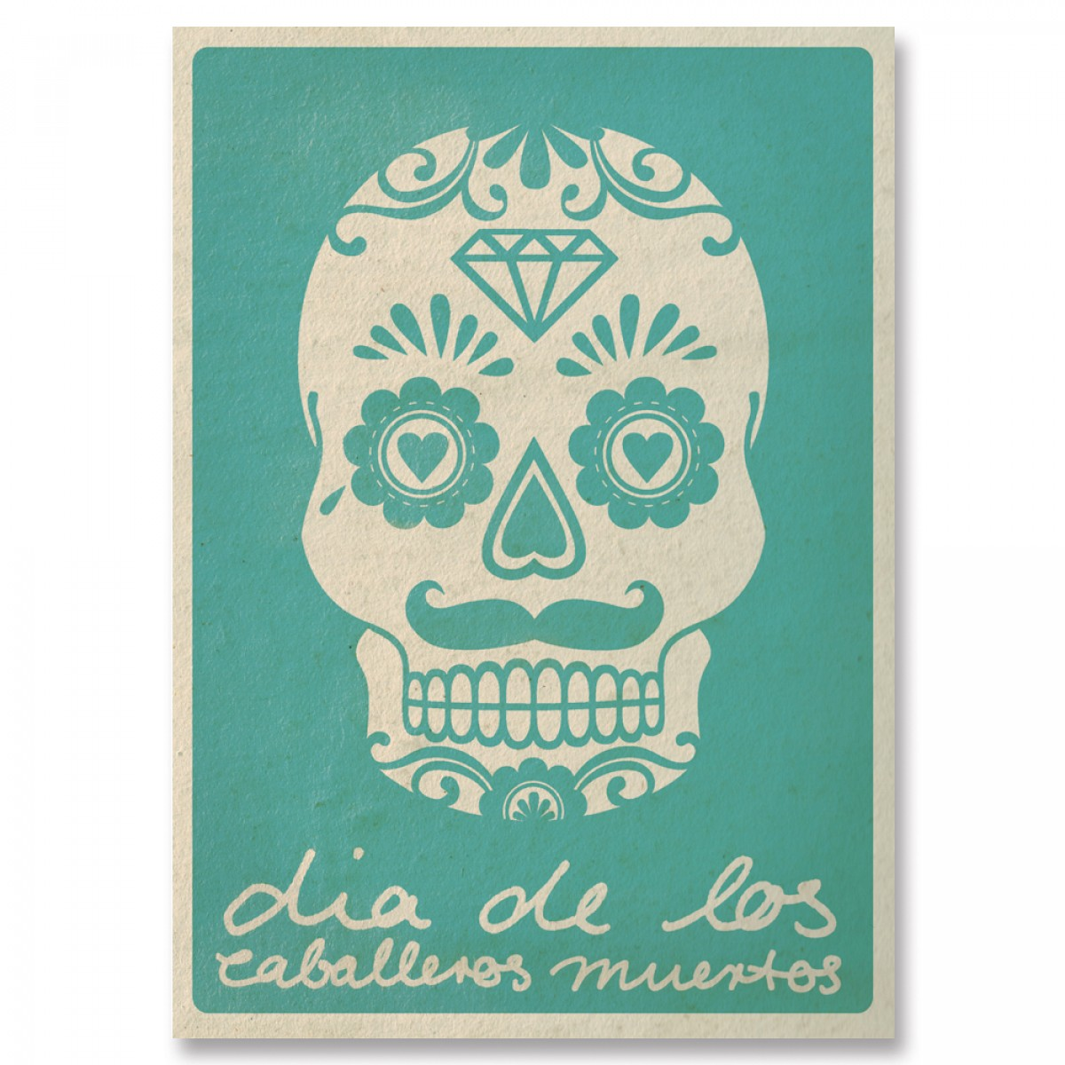 great-handmade *Caballeros muertos Postkarten Set