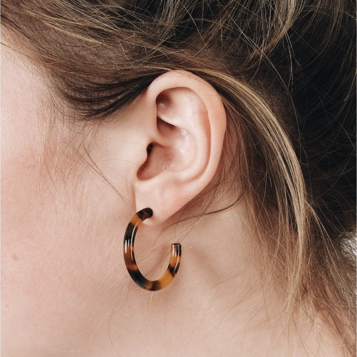 ACETAT HOOPS SMALL leo // EVE + ADIS