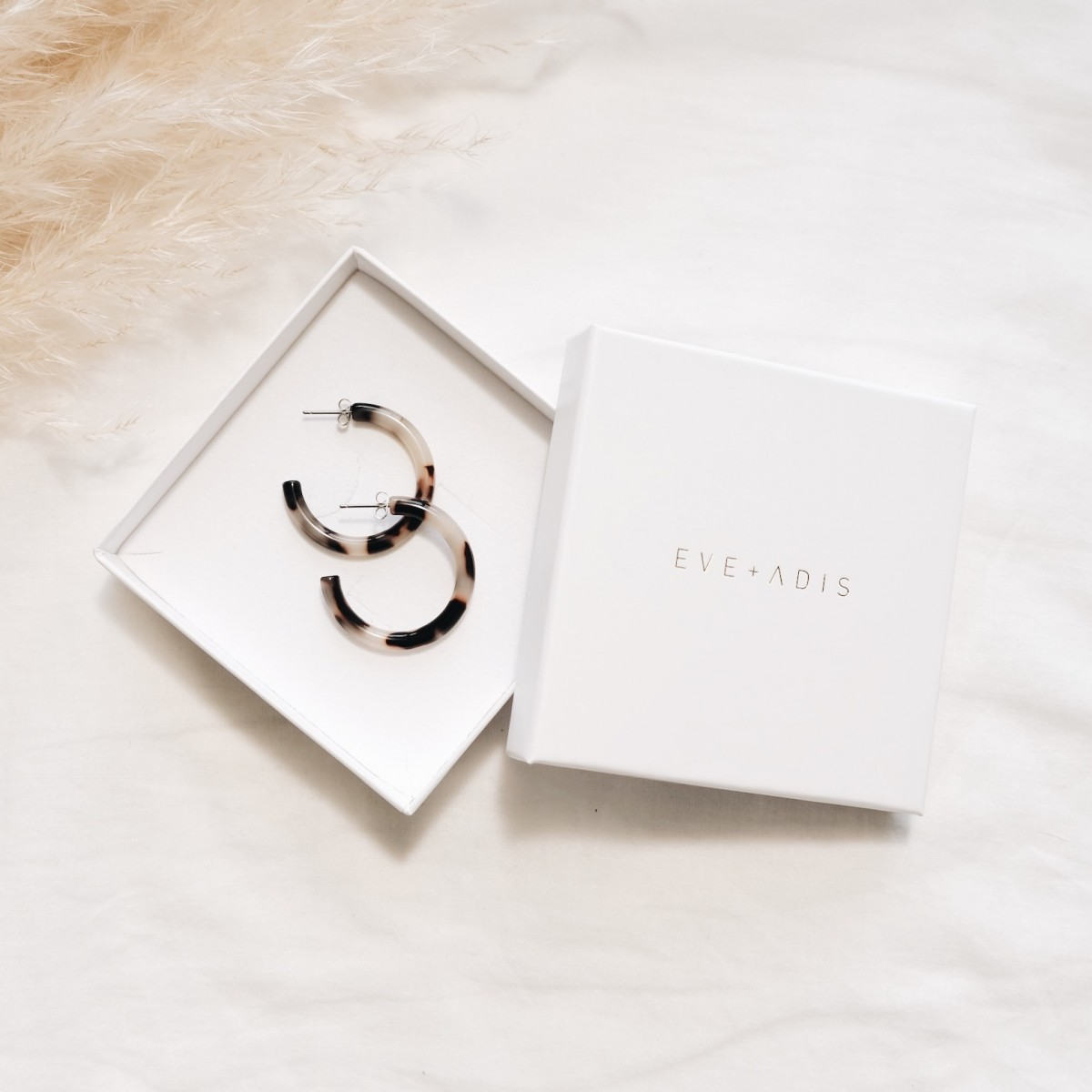 ACETAT HOOPS SMALL stone // EVE + ADIS