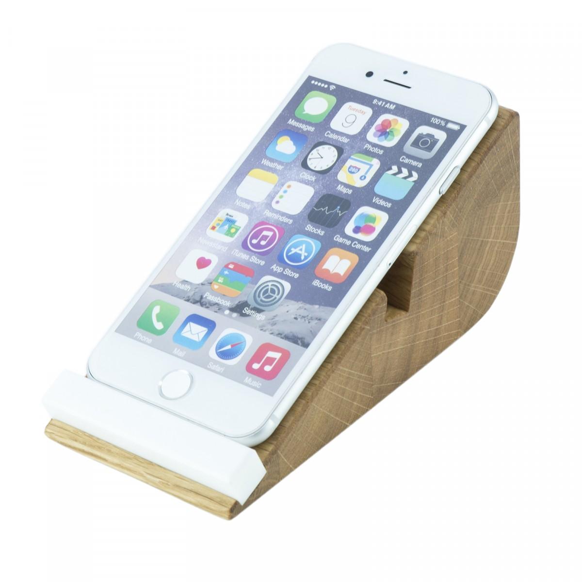 Smartphone Halter cela 5, iPhone Halterung aus Holz | Handy Aufsteller 5 Zoll | Holzbutiq
