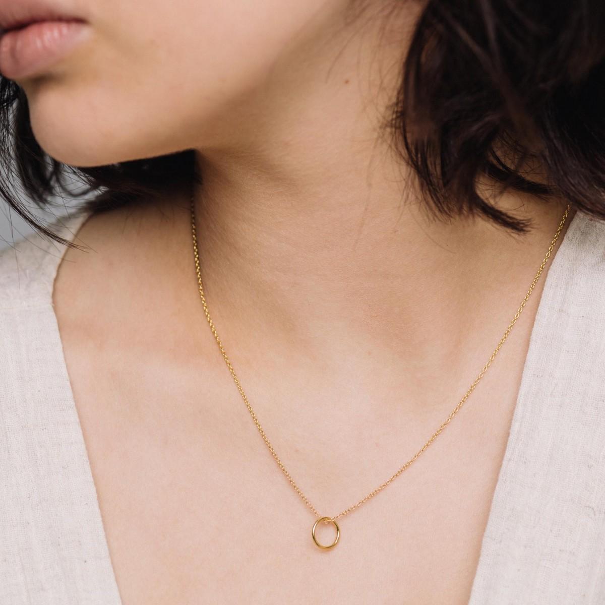 fejn jewelry - Kette 'medium circle'