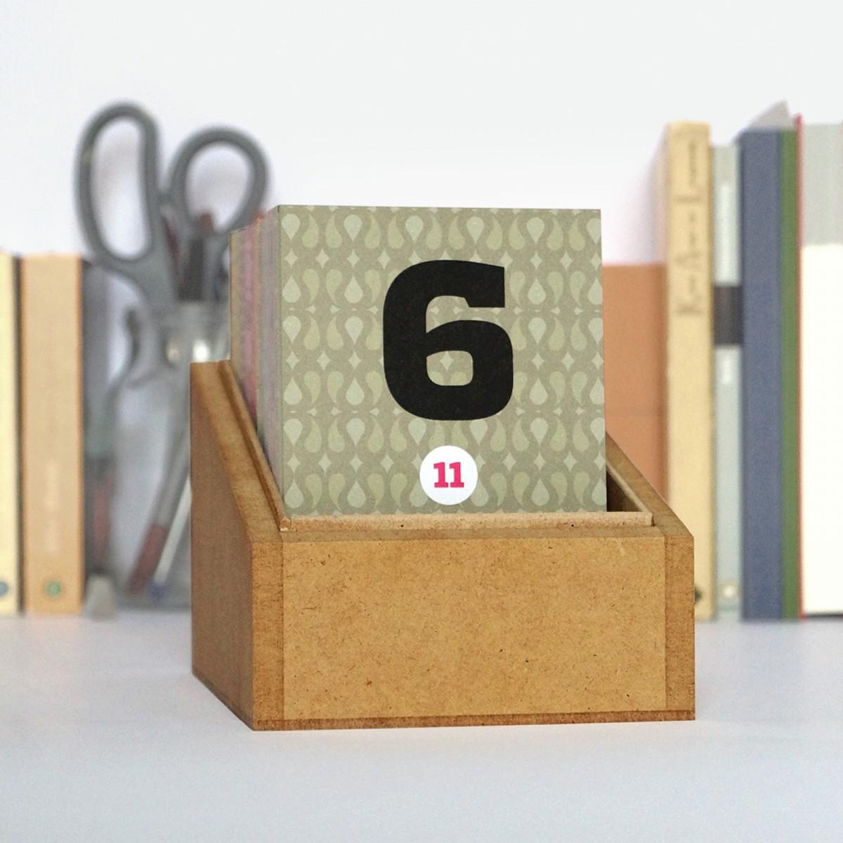 Happydaysbox, mit Deckel weiß, sprachneutraler Erinnerungskalender, schönetagebox Vol. 2