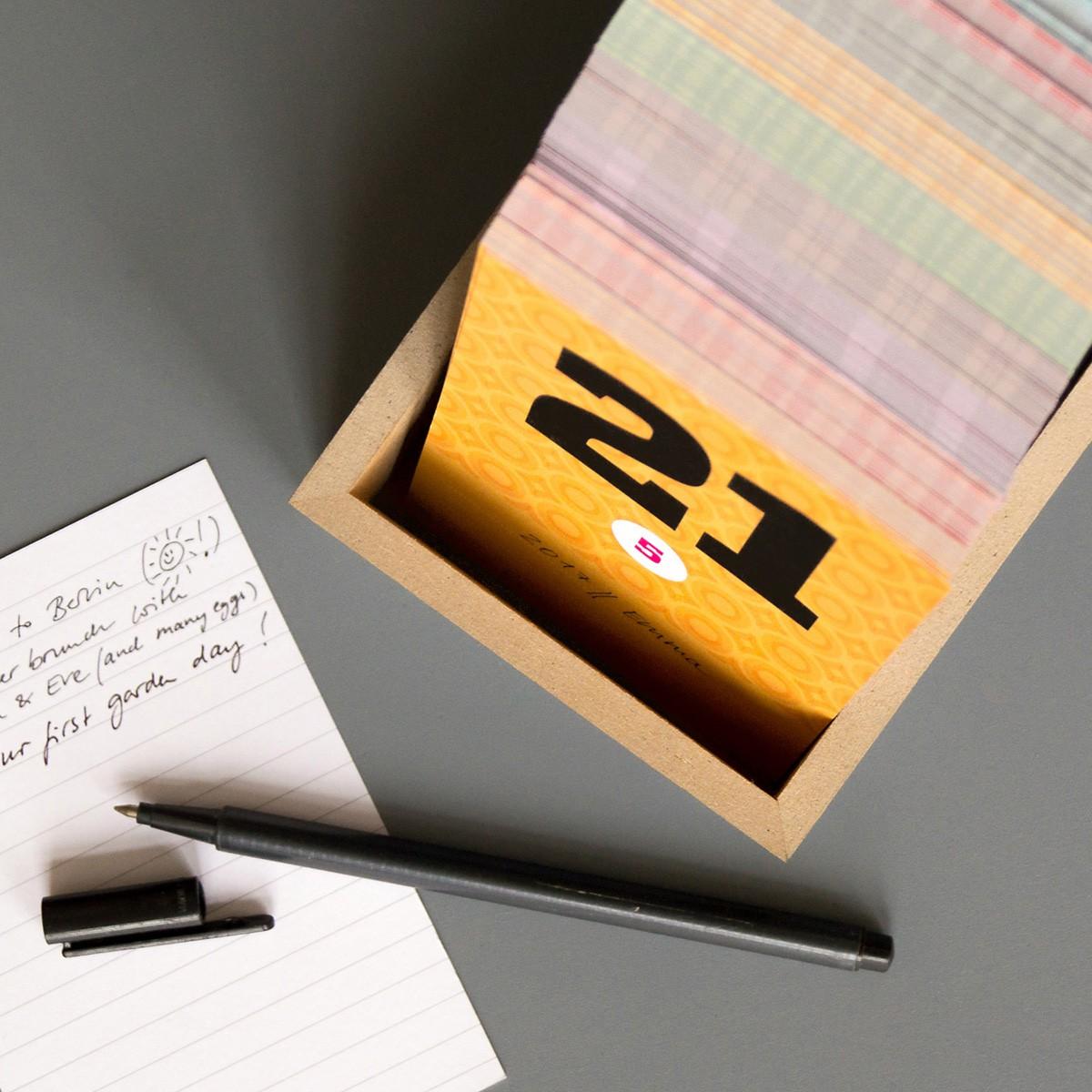 sperlingB – happydaysbox, schwarz, sprachneutrale Erinnerungsbox, Tischkalender, schönetagebox Vol. 2
