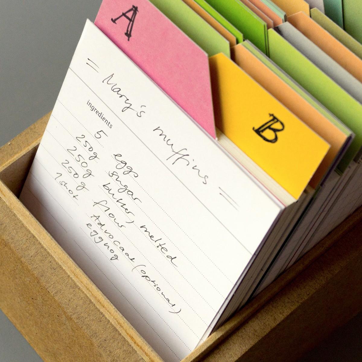 sperlingB – Rezeptbox, mintblau, Karteikartenbox für Rezepte