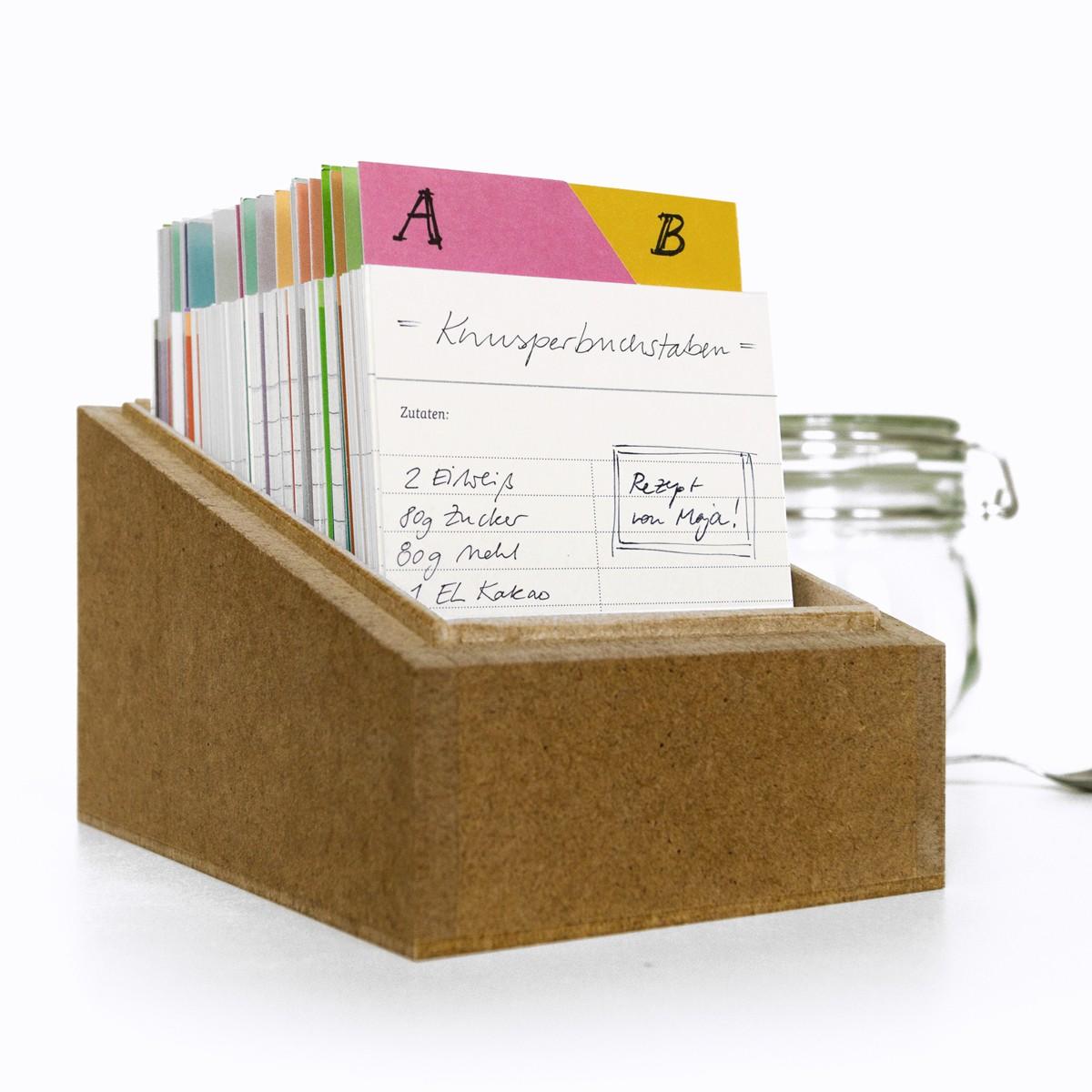 sperlingB – Rezeptbox, petrolblau, Karteikartenbox für Rezepte