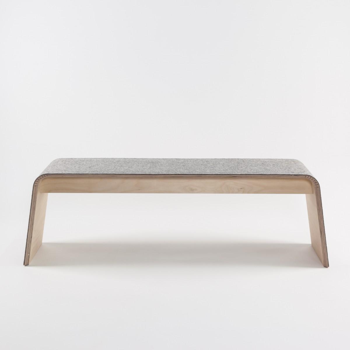 STADIG.stubenbank 140cm Design Sitzbank aus Holz mit Wollfilz