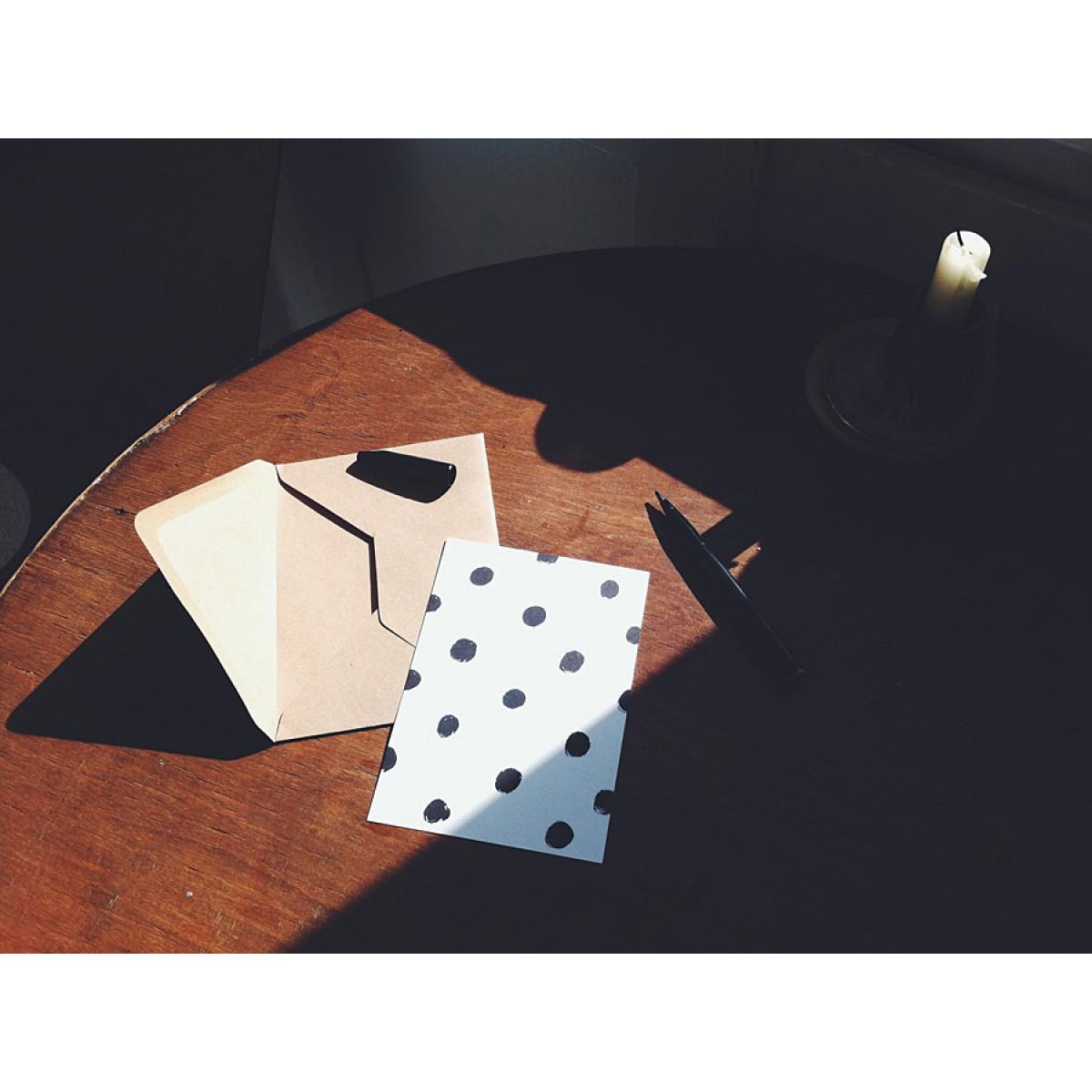 stefanizen – Punkte Postkarte DIN A6 mit Umschlag
