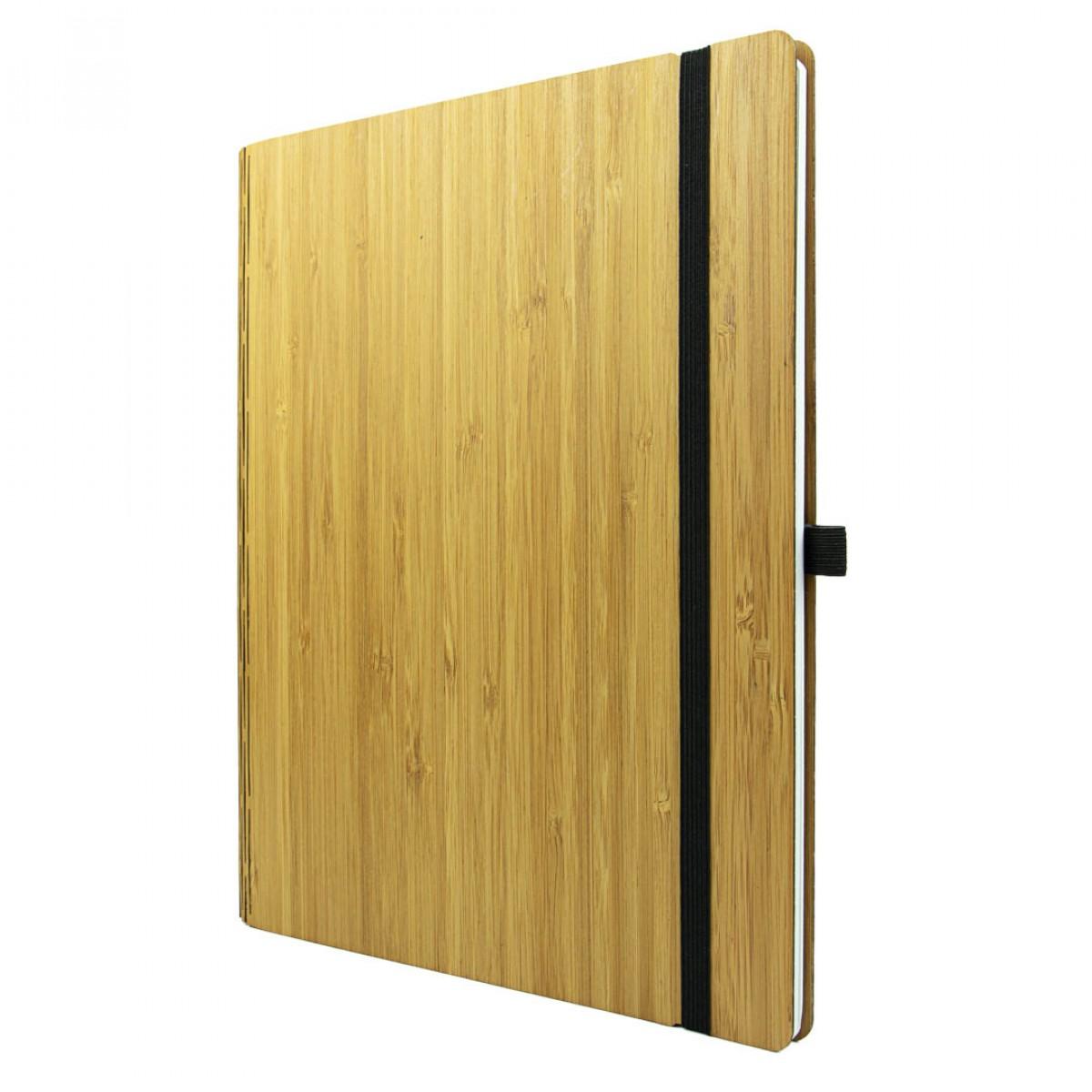 JUNGHOLZ Design NotizbuchWoodBook, Bambus A4