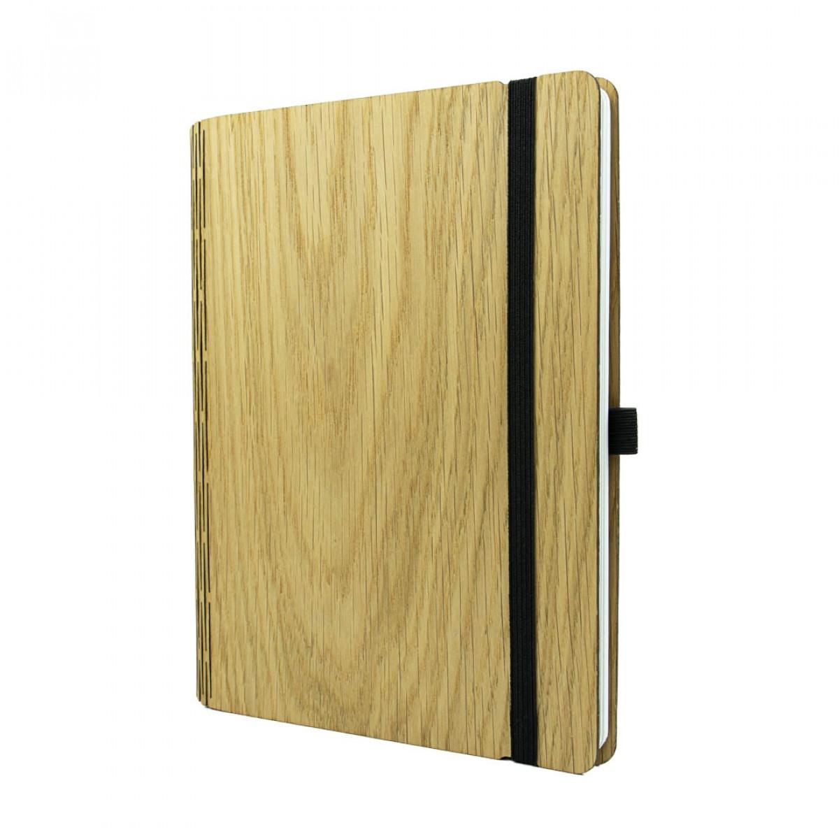 JUNGHOLZ Design Notizbuch,WoodBook, Eiche A5
