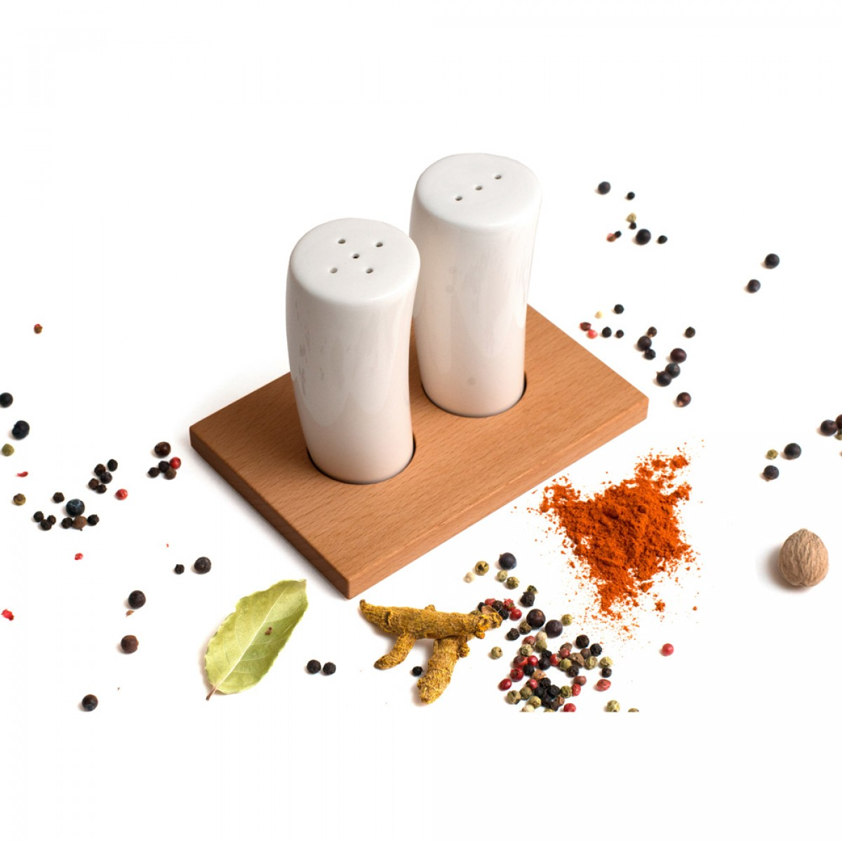 Salz- und Pfefferstreuer Duo (Buche)
