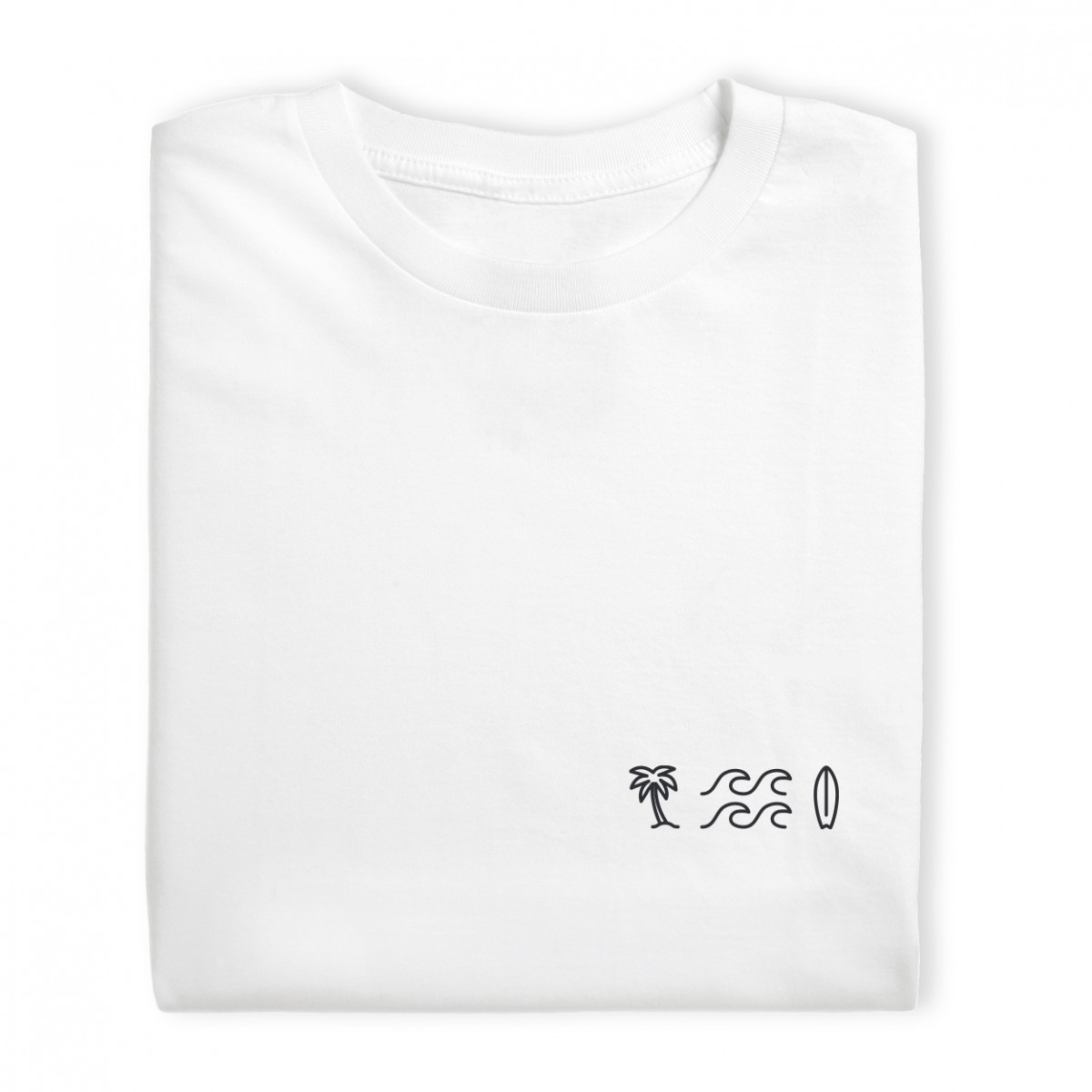 Charles / Shirt Palme, Welle, Surfbrett / 100% Biobaumwolle / Fair Wear zertifiziert