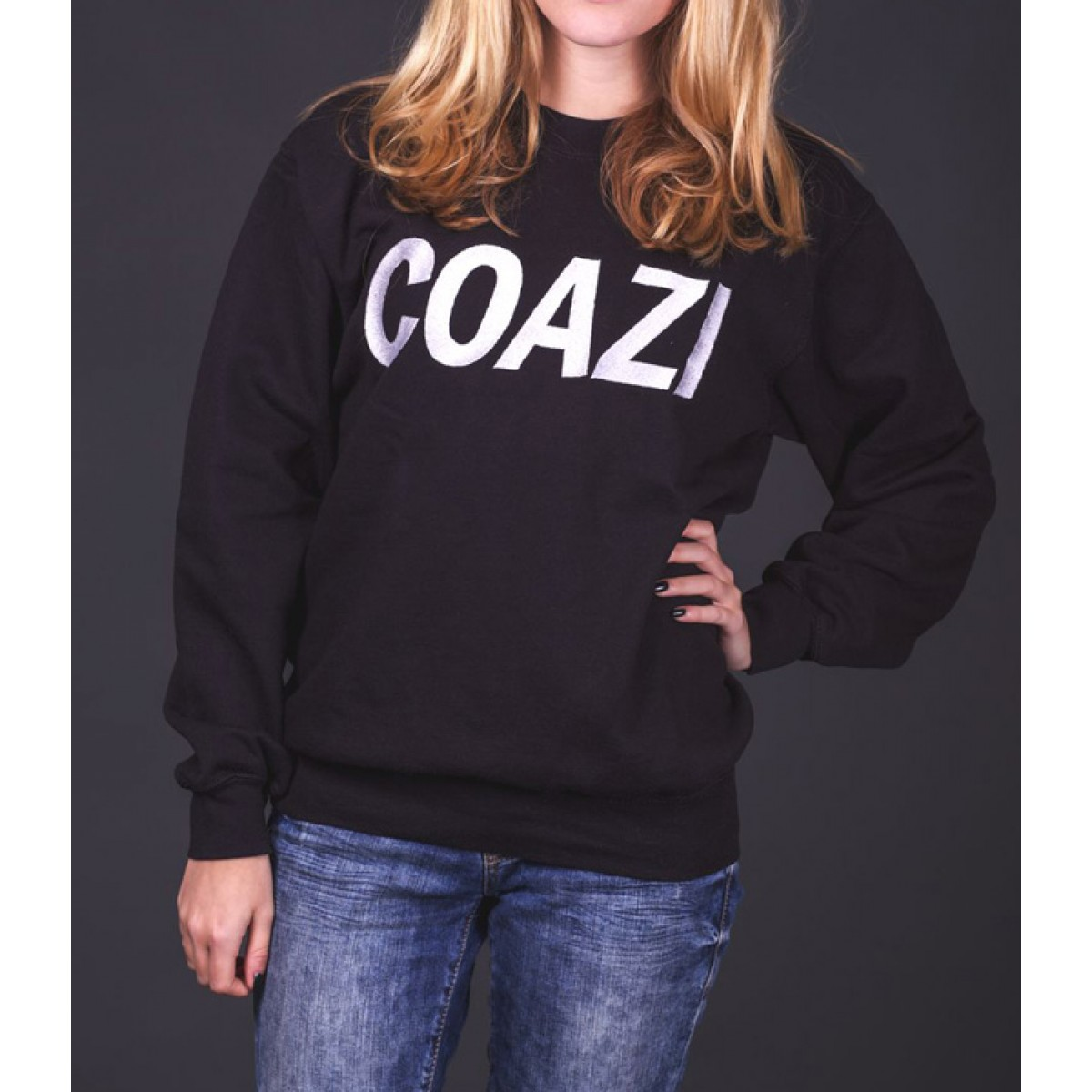 Coazi Label Sweater Black Female