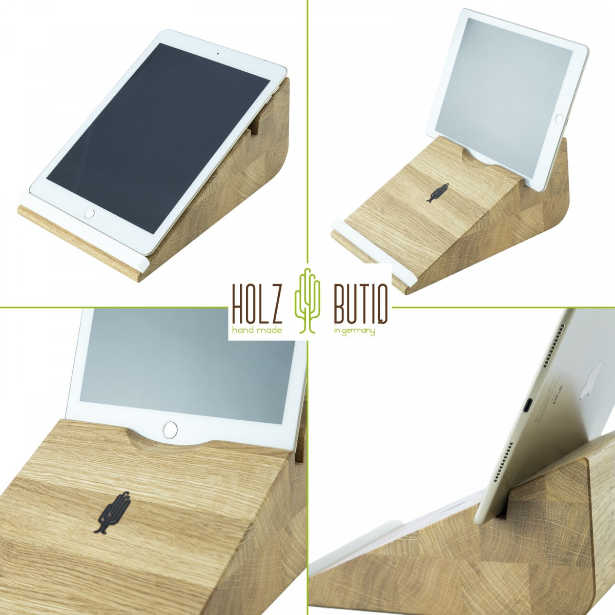 tablet halter tablojdo 10 ipad halter aus holz tablet. Black Bedroom Furniture Sets. Home Design Ideas