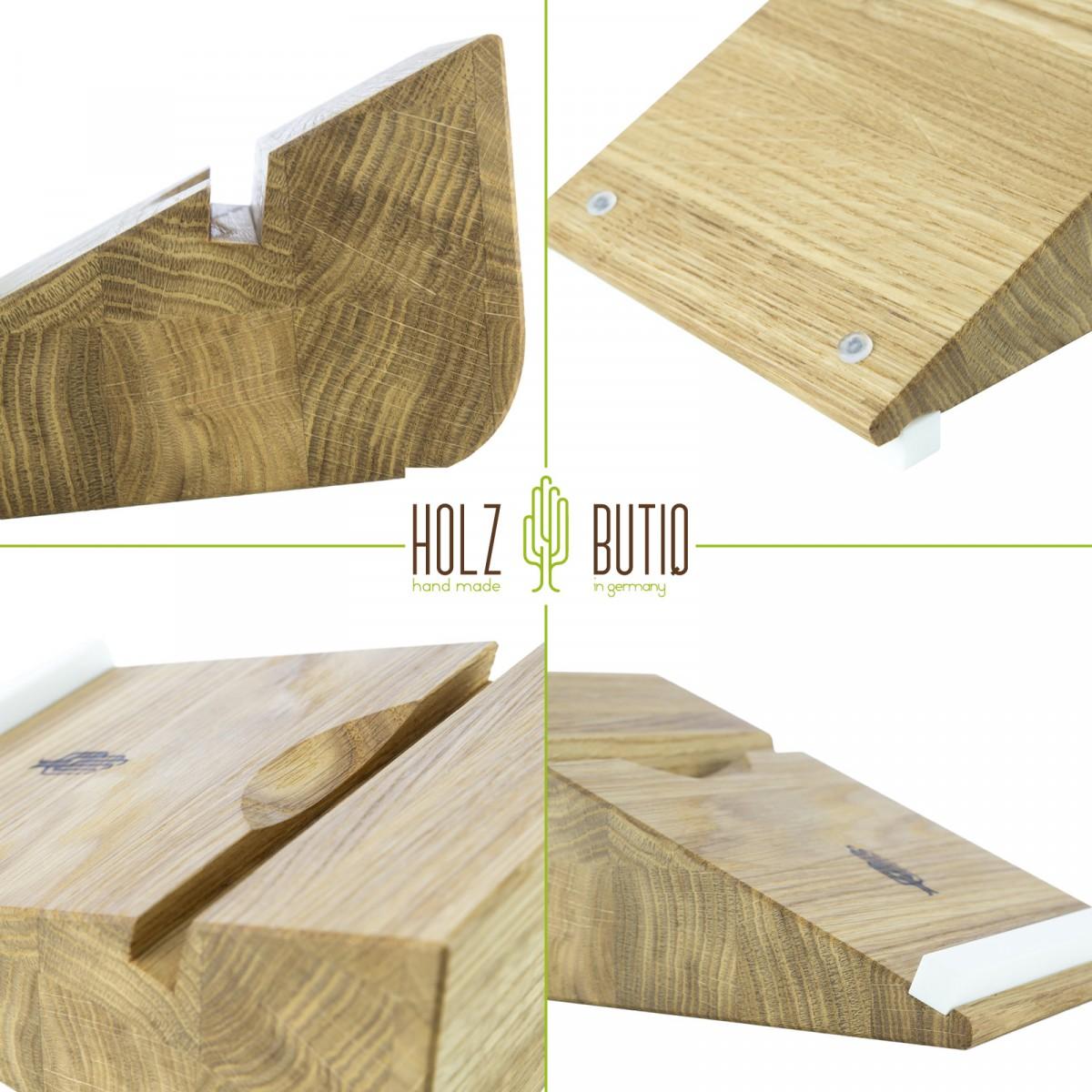 Tablet Halter tablojdo 8, iPad Halter aus Holz | Tablet Halterung 8 Zoll | Holzbutiq