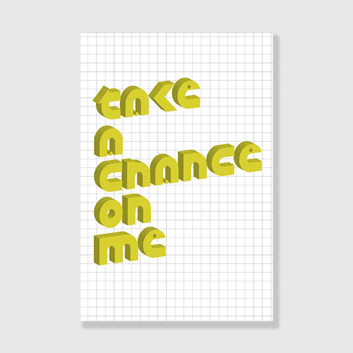 "ZEITLOOPS ""Take a Chance on me"", Posterprint 40x60cm"