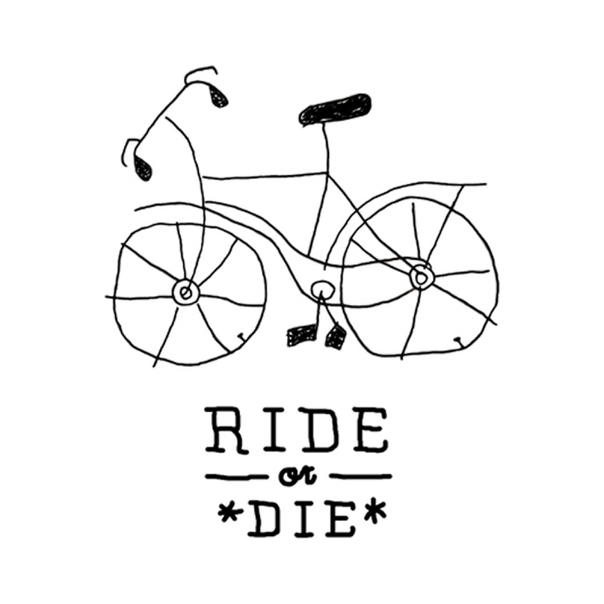TEMPORARY TATTOO - RIDE OR DIE (SET OF 2)