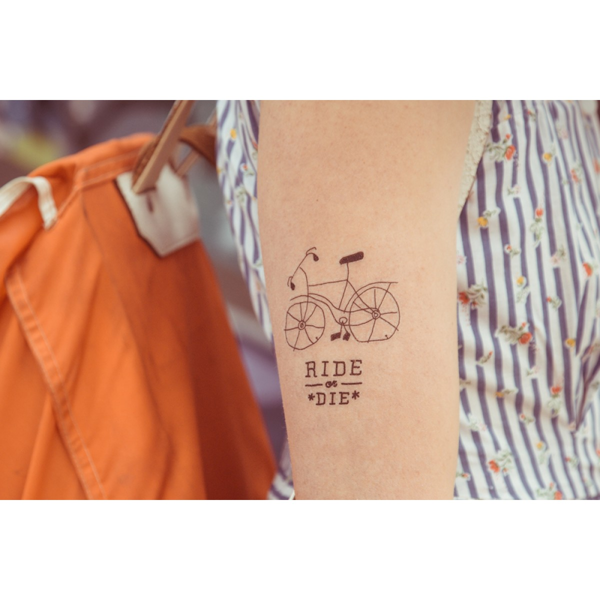 Temporary Tattoo - Ride Or Die (2er Set)