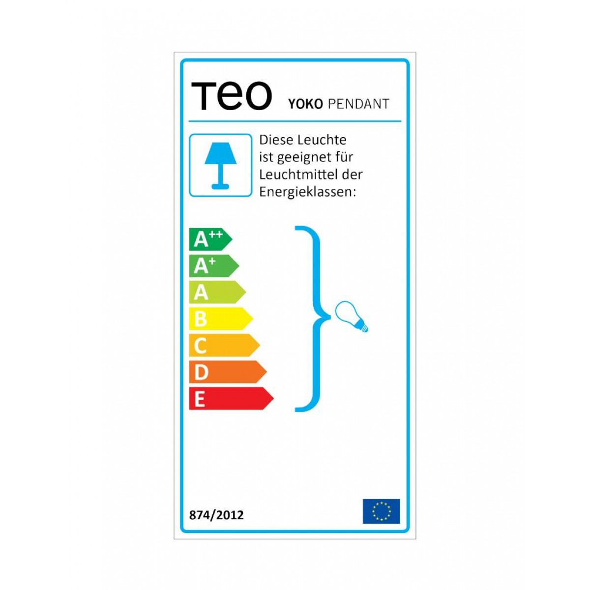 TEO - YOKO - Hängeleuchte (dunkelgrau)