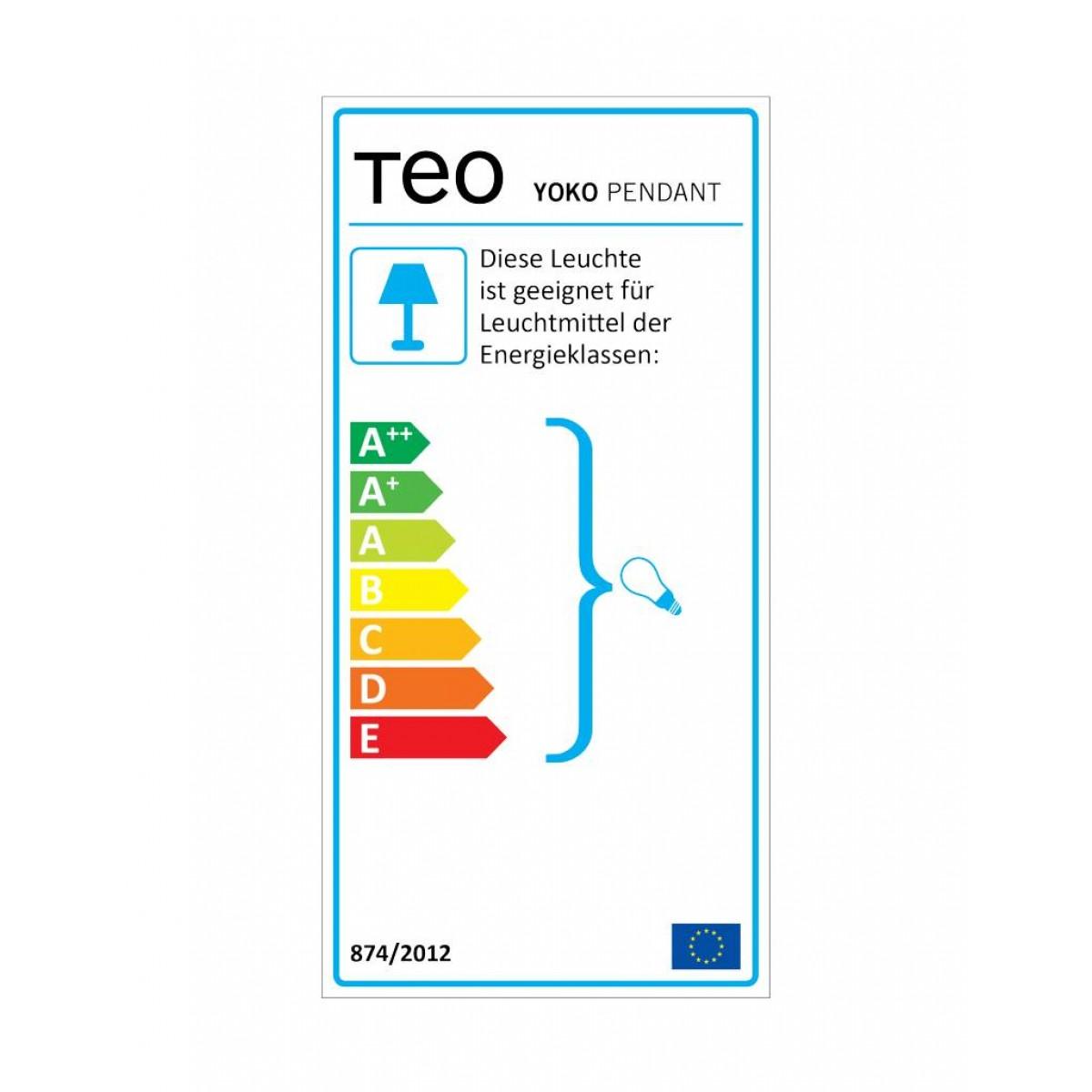 TEO - YOKO - Hängeleuchte (dunkelrot)