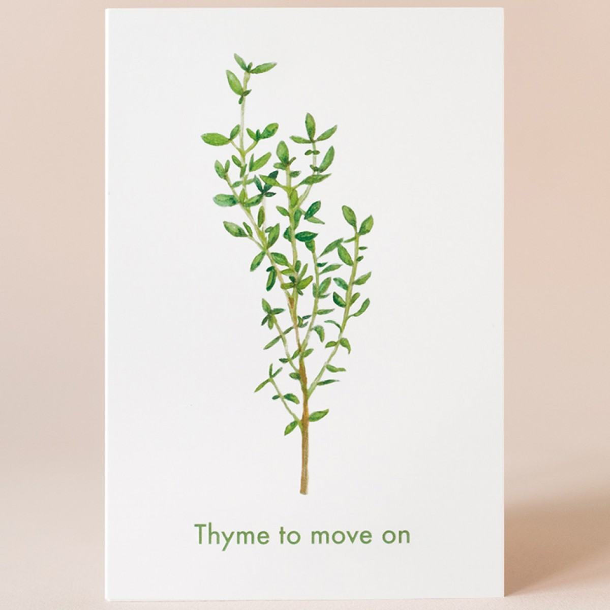 "Grußkarte ""Thyme to move on"" mit Umschlag / Kamila Sidelnikov"