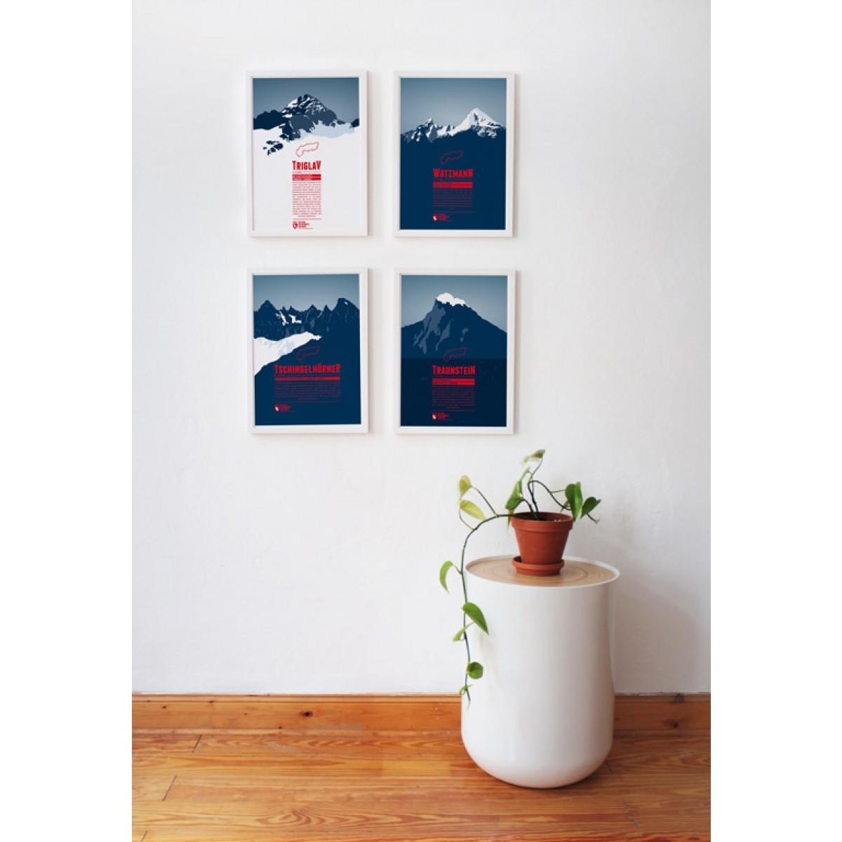 bergdruck traunstein von marmota maps. Black Bedroom Furniture Sets. Home Design Ideas