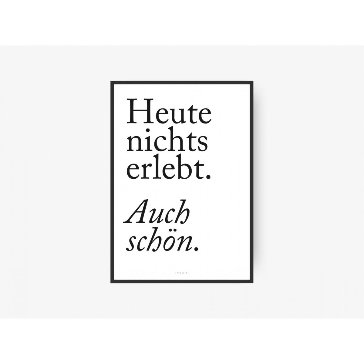 typealive / Bilderrahmen / Alu, schwarz (div. Formate)