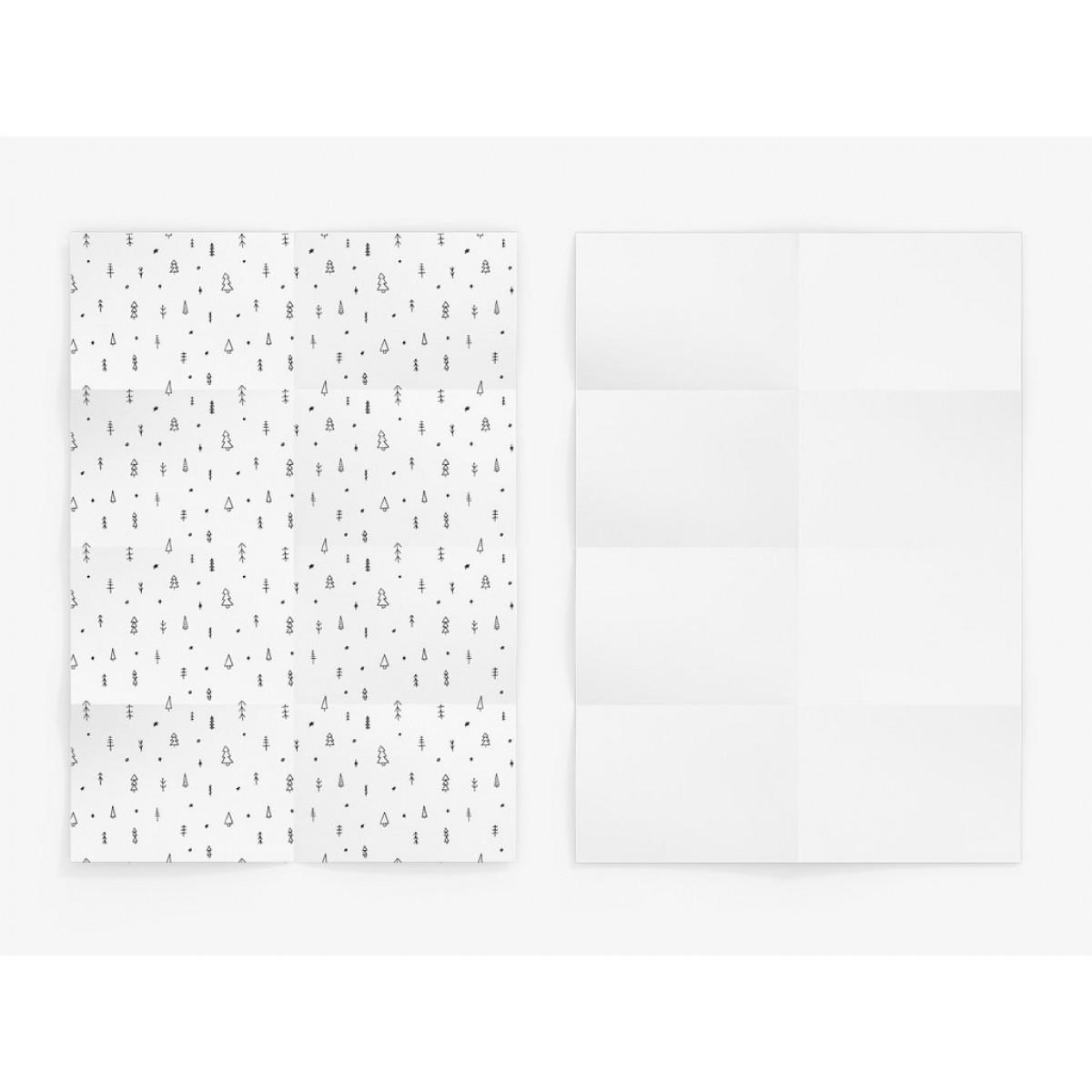 typealive / Geschenkpapier / Doodle Wood (gefaltet)